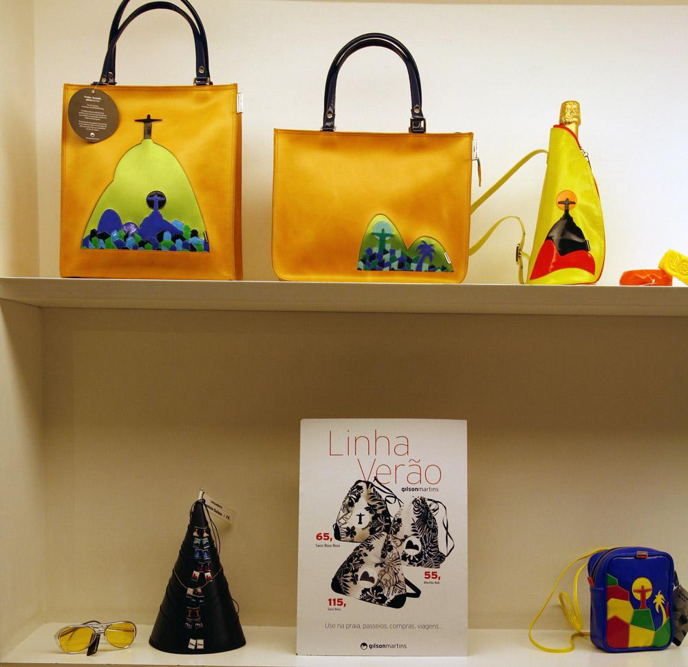 "The trendy upmarket ""Gilson Martins"" bag shop in Ipanema, Rio de Janeiro."