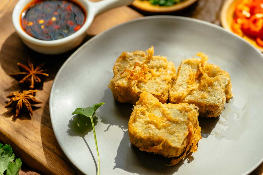 Chinese traditional famous food - Stinky tofu. Photo: Shutterstock