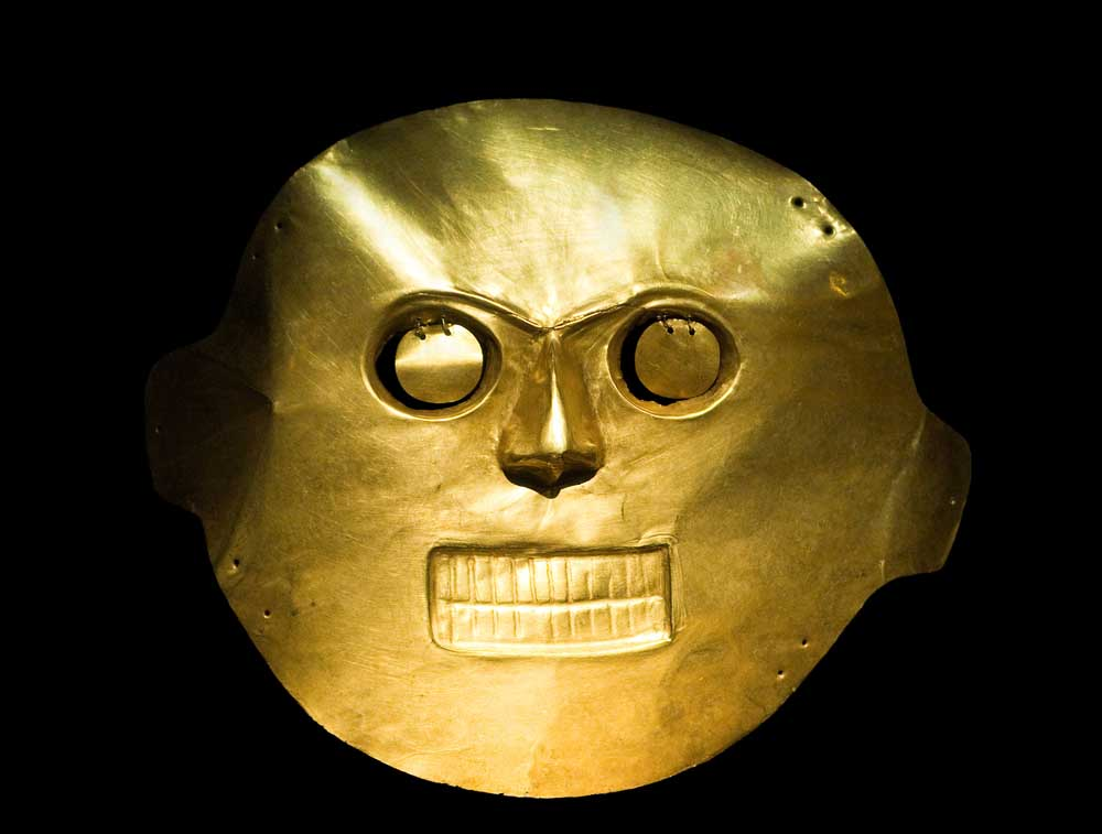 A mask at the Gold Museum.