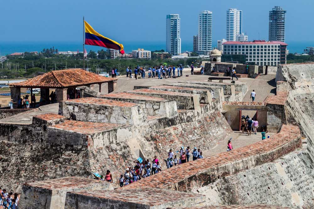 Cartagena's pirate-repelling fortifications.