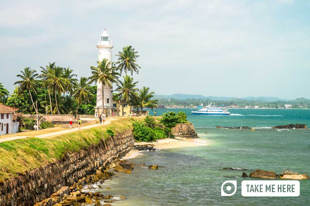 The iconic Galle Fort