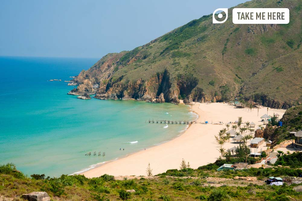 Ky Co beach in Quy Nhon, Vietnam.