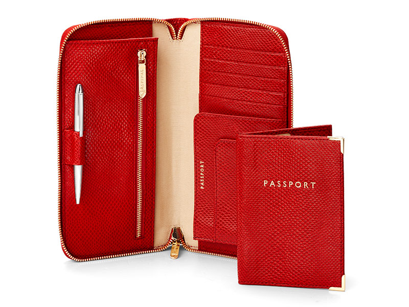 Aspinal Zipped Travel Wallet with Passport Cover. Photo: Press release