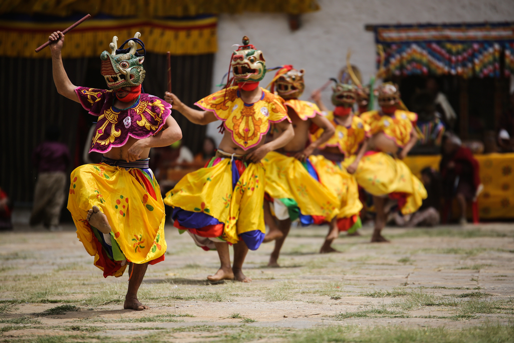 Masked Dancer from Bhutan. Photo: Dylan Haskin/Shutterstock