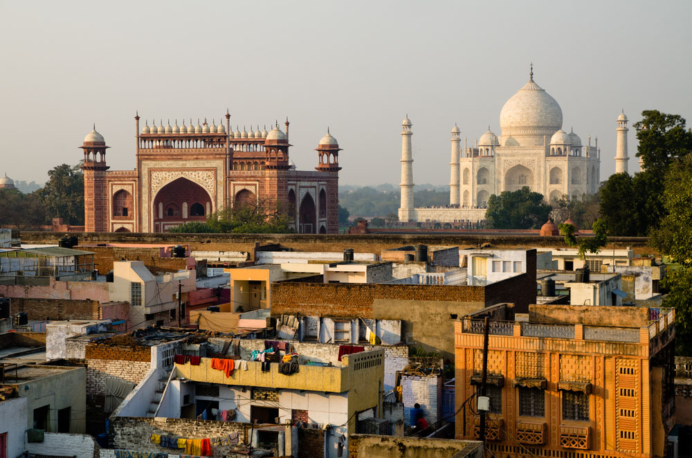 Taj Mahal view from Agra roofs. Photo: Shutterstock