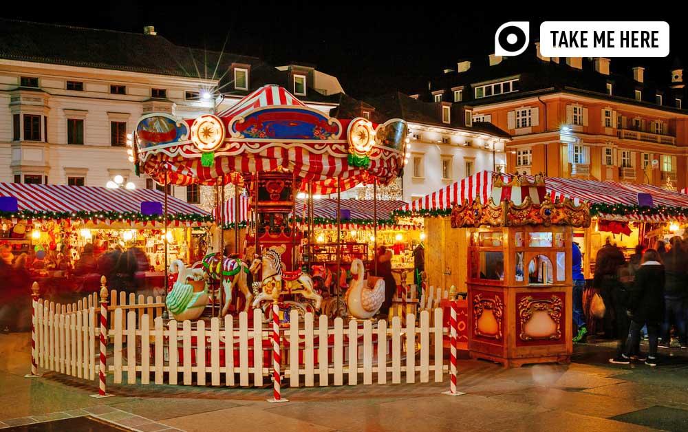 Carousel at the Christmas Market in Bolzano.