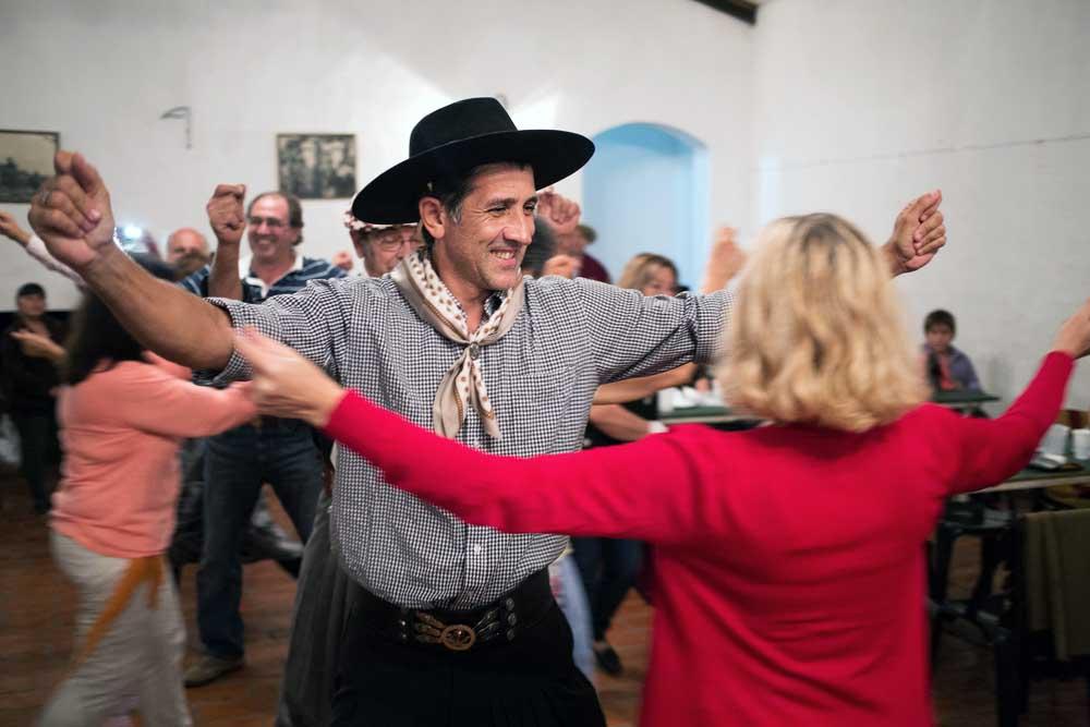 Gauchos en Fiesta de la Tradicion in Buenos Aires province