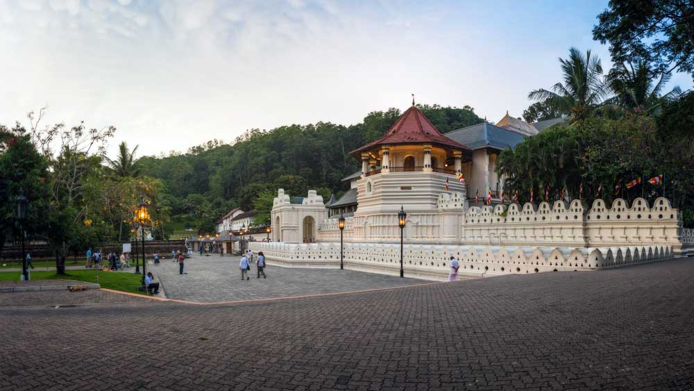 Temple of the Sacred Tooth Relic in Kandy, Sri Lanka.