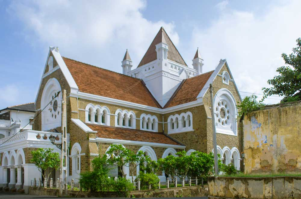 Anglican All Saints' Church, located in Galle Fort, Sri Lanka