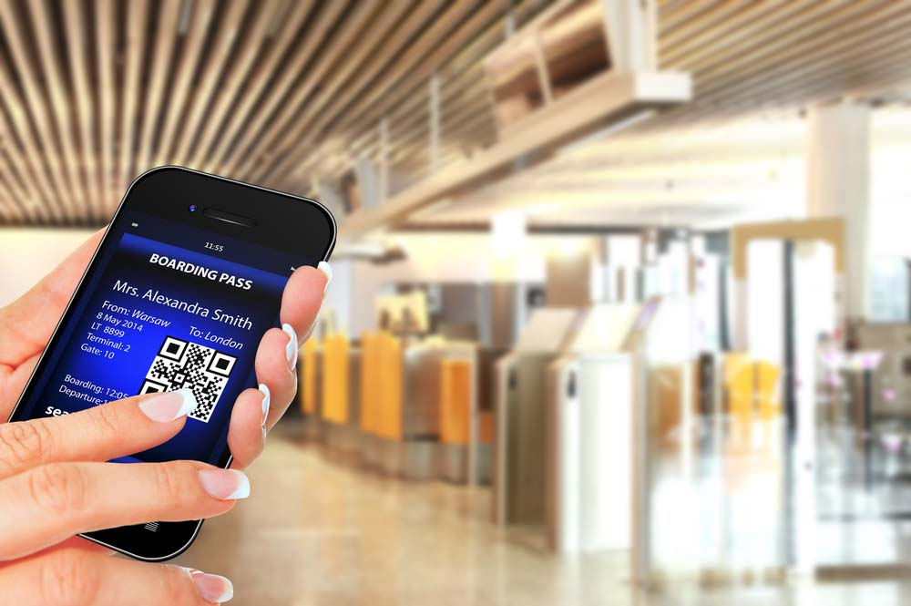 Screenshot of the boarding pass. Photo: Shutterstock