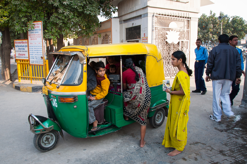 Piling into an autorickshaw in Delhi. Photo: Shutterstock
