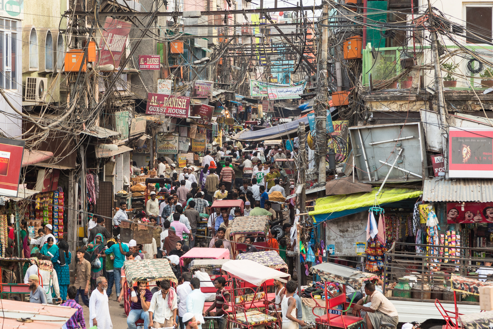 Bustle on the crowded streets of Old Delhi. Photo: Shutterstock