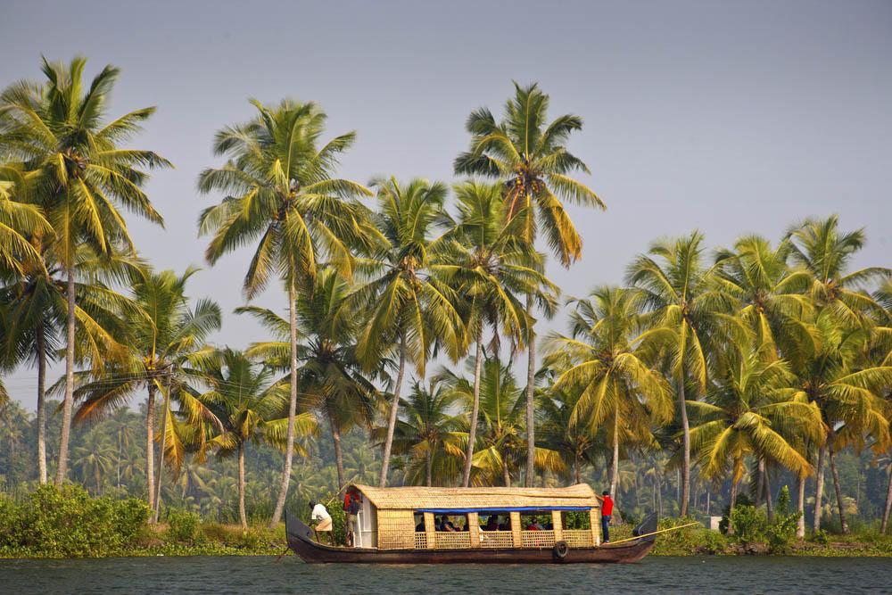 Houseboat in backwater of Kerala. Photo: Shutterstock