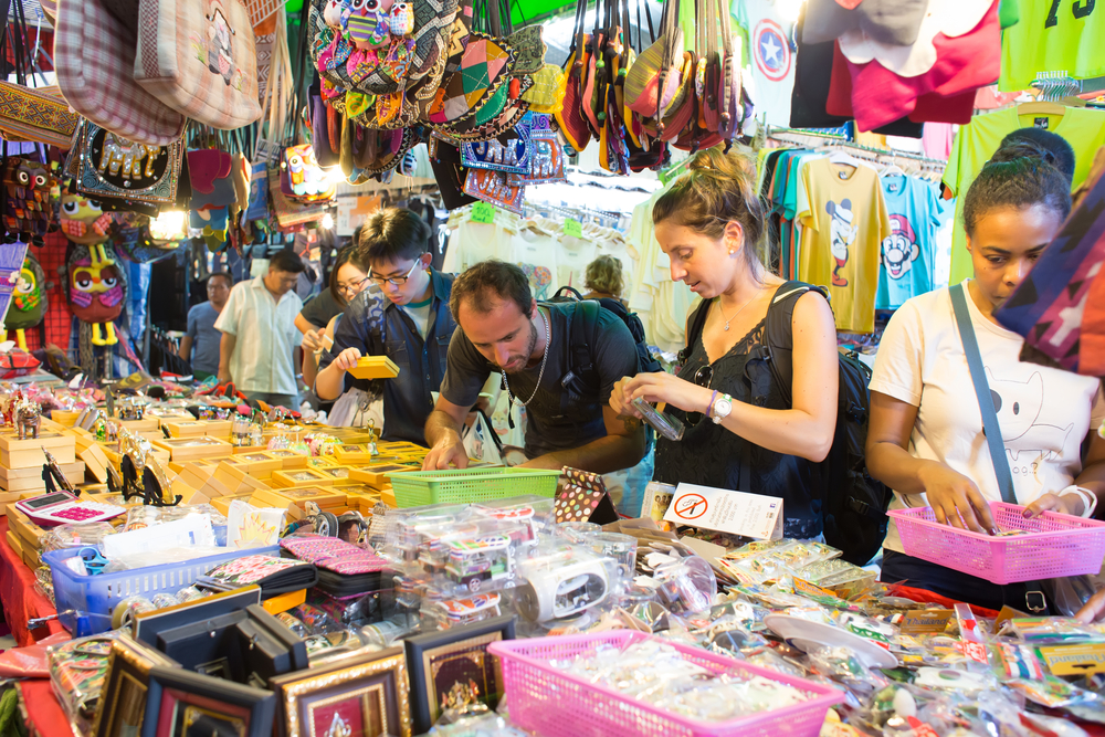 Don't be afraid to haggle while shopping abroad.