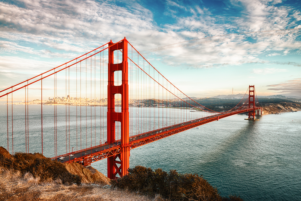 Golden Gate Bridge, San Francisco. Photo: Shutterstock