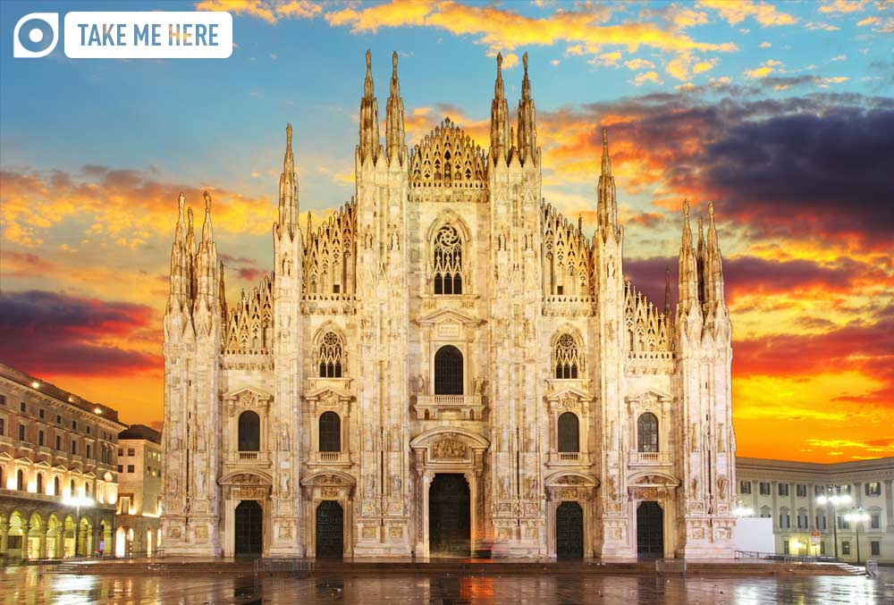 The Duomo at sunset is a sight to behold