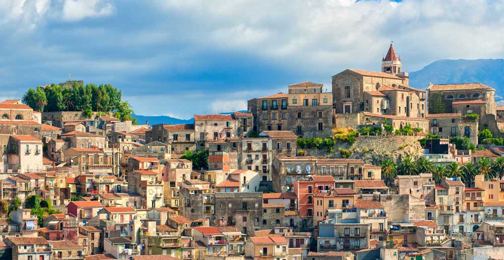 Italian village Castiglione on Etna volcano, Sicily. Photo: Shutterstock