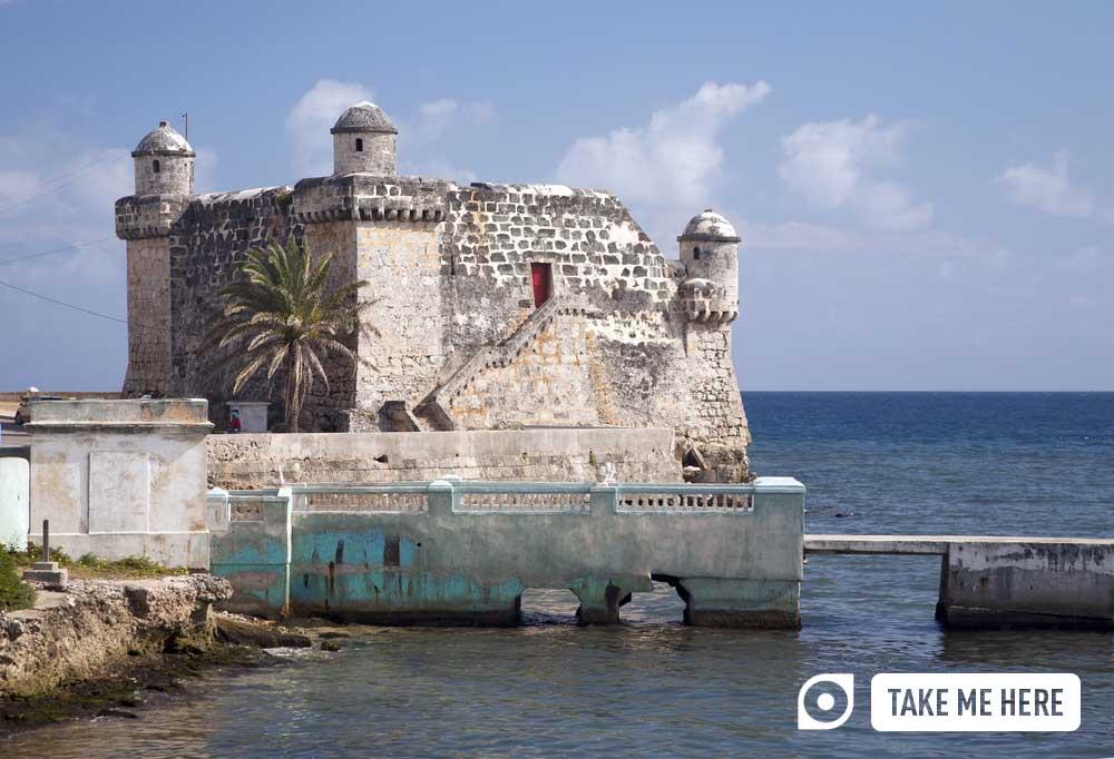 The Spanish fort, Torreon de Cojimar, in Cohimar, Cuba.