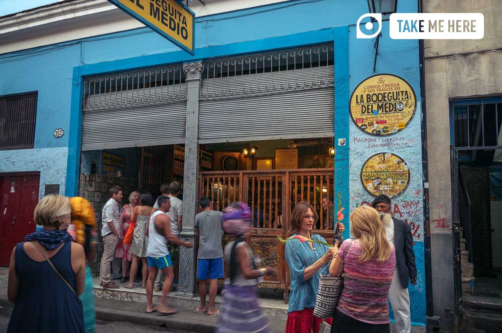 La Bodeguita del Medio is one of the most famous restaurants in Havana.