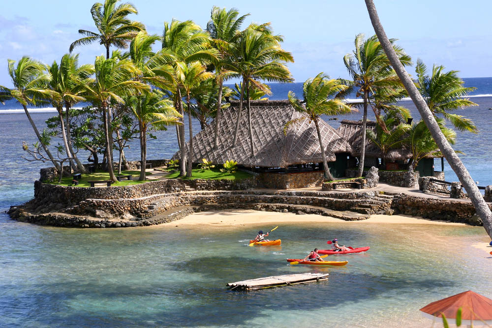 Kayaking in Fiji.