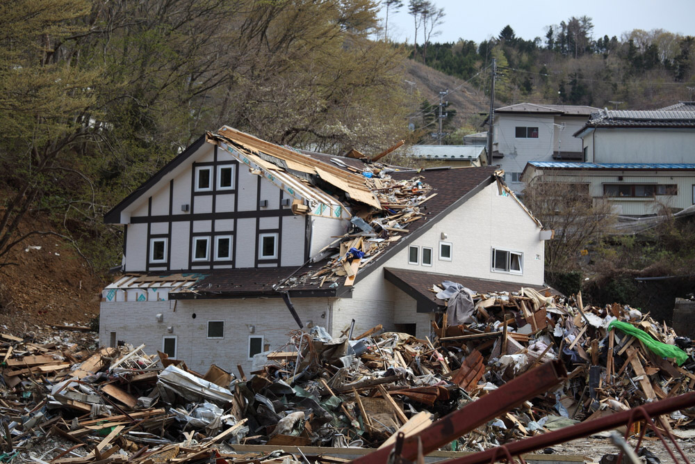 Damages of 2011 tsunami in Japan. Photo: Shutterstock