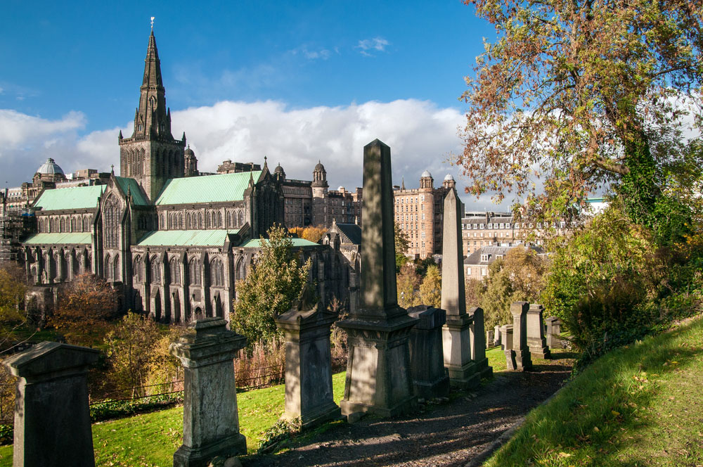 Glasgow cathedral and Necropolis. Photo: Shutterstock