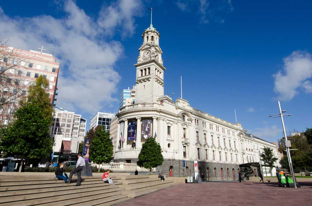 Auckland Town Hall on Queen Street.