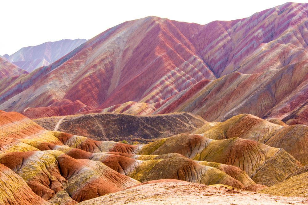 Colorful mountain in China , Zhangye. Photo: Shutterstock