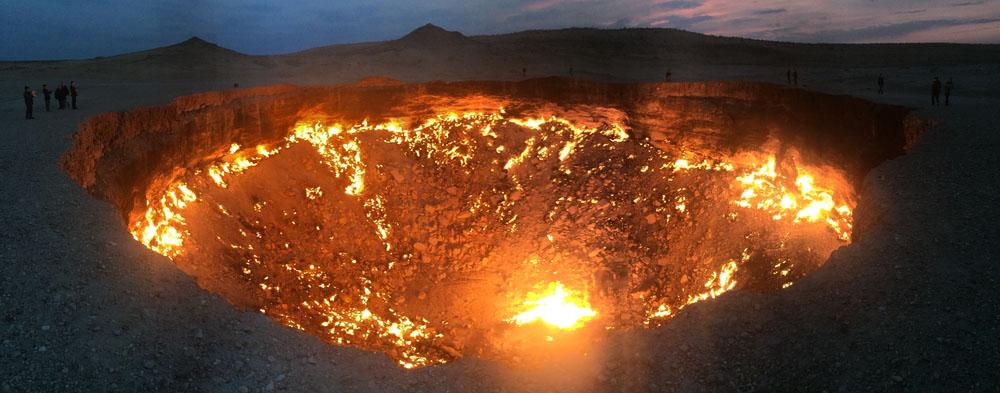 Door to Hell in Turkmenistan. Photo: Shutterstock