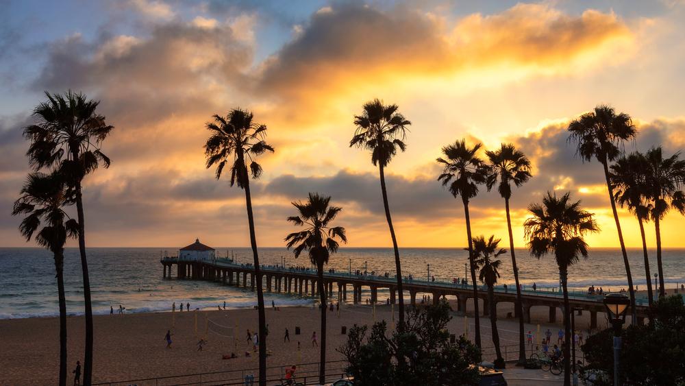 Sunset over Manhattan Beach. Photo: Lucky-photographer/Shutterstock