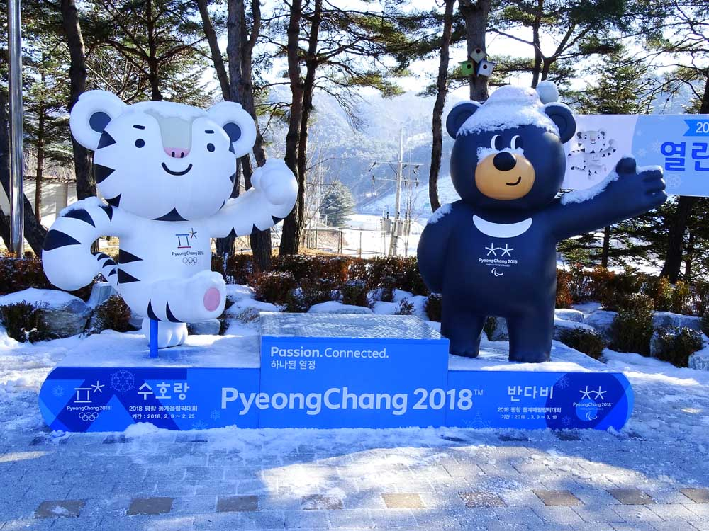 Winter Olympics mascots in Pyeongchang