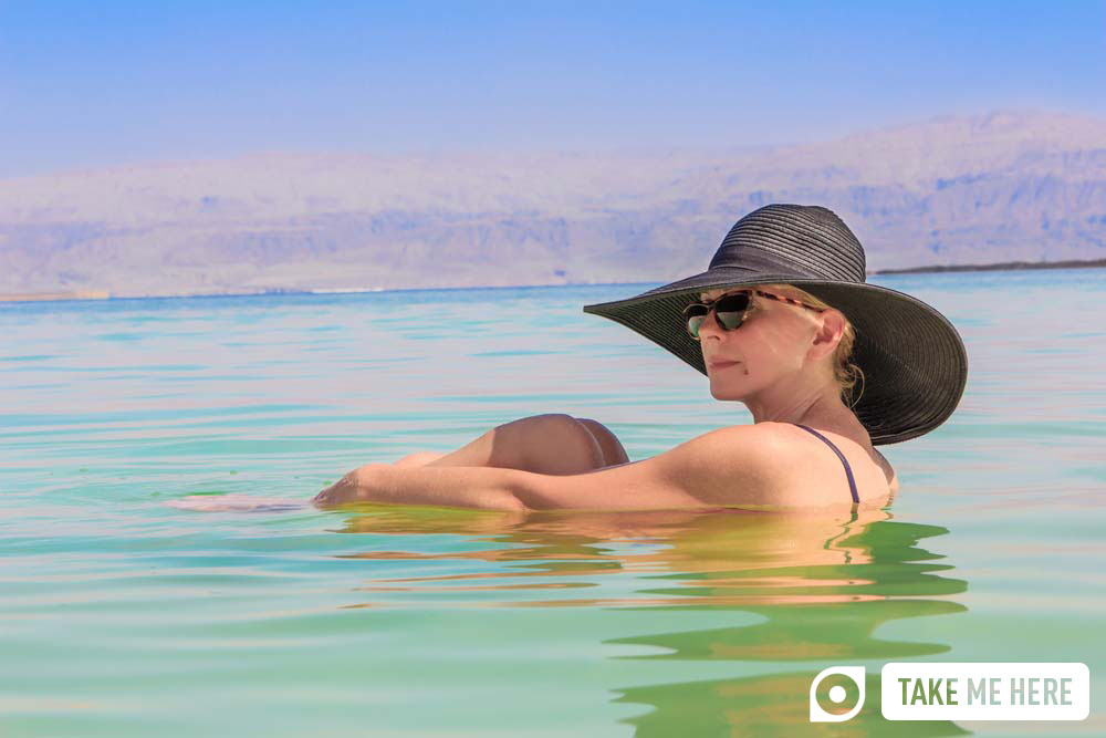 Floating in the waters of the Dead Sea. Photo: Shutterstock
