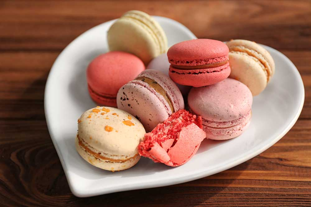 Macaroons make for a tasty treat on Valentine's Day in France.