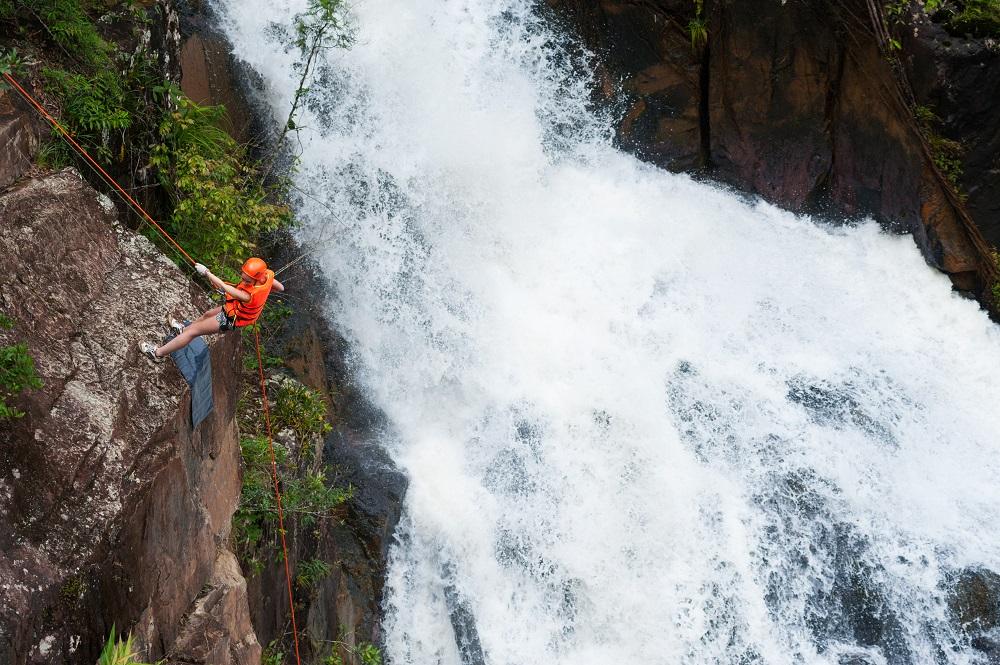 Abseiling in Dalat. Photo: withGod/Shutterstock