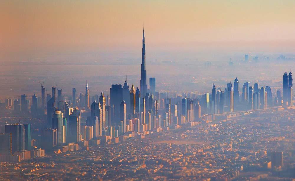 Burj Khalifa over Dubai.