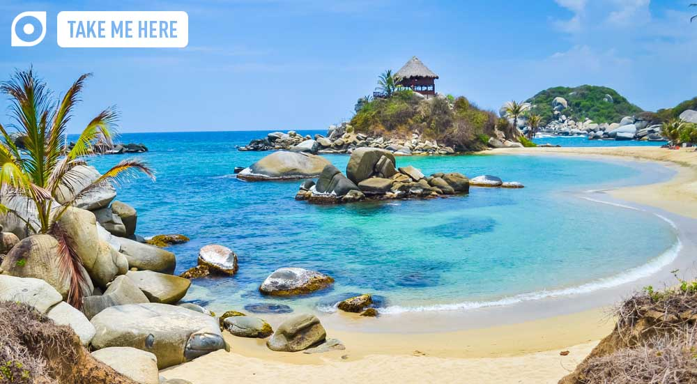 Beautiful bay in Colombia's Tayrona National Park