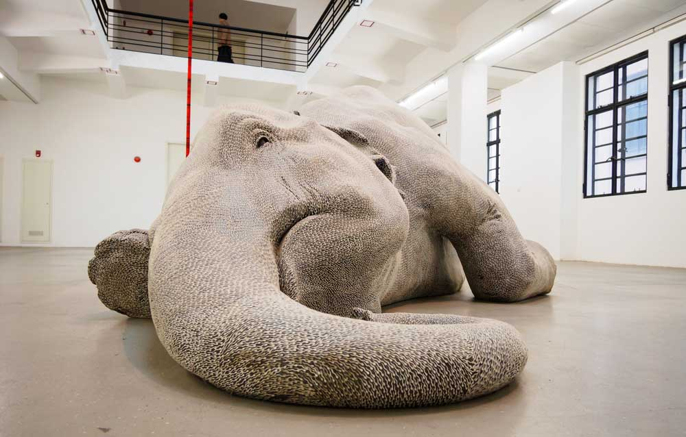The exhibition of Bharti Kher's sculptures in the Rockbund Art museum. Photo: Shutterstock