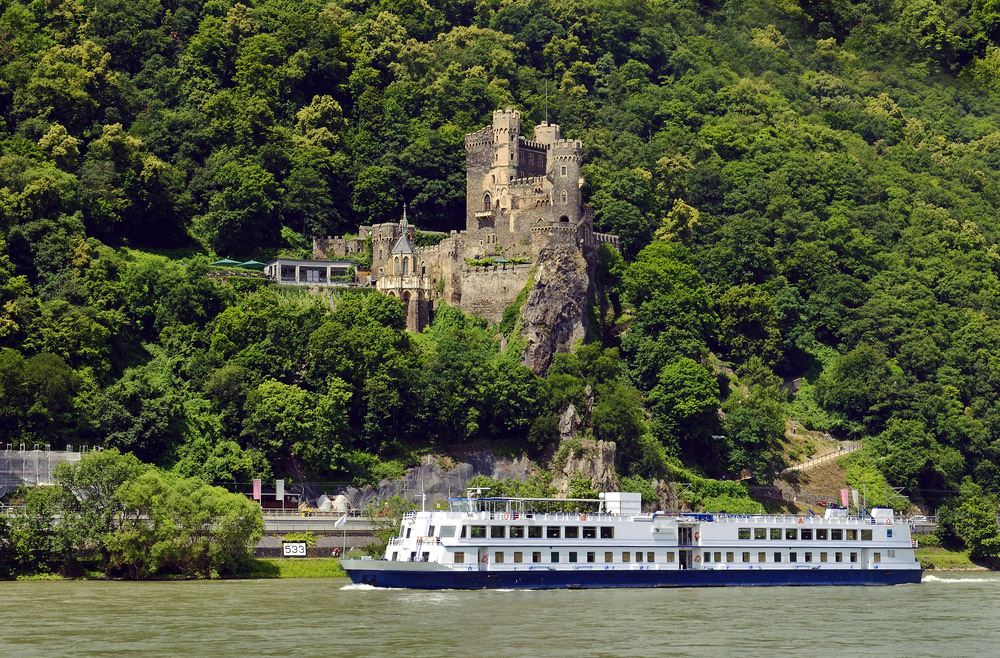 Spot beautiful castle in the Rhine Valley, Germany. Photo: Shutterstock