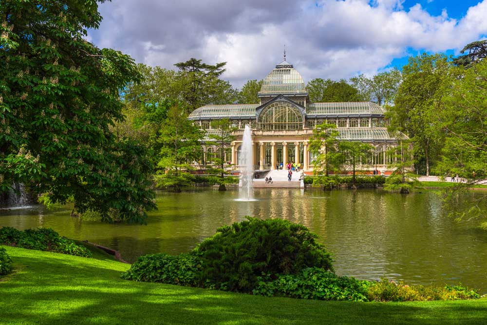 Crystal Palace (Palacio de cristal) in Retiro Park in Madrid. Photo: Fotolia