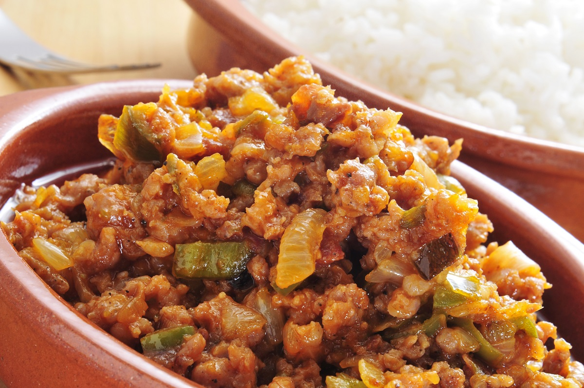 Picadillo, a traditional dish in Costa Rica, served with rice. Photo: nito500/123RF