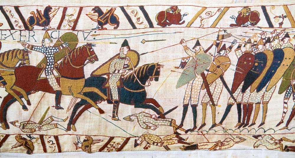 Detail of the Bayeux Tapestry, which depicts the Norman invasion of England in the 11th Century.
