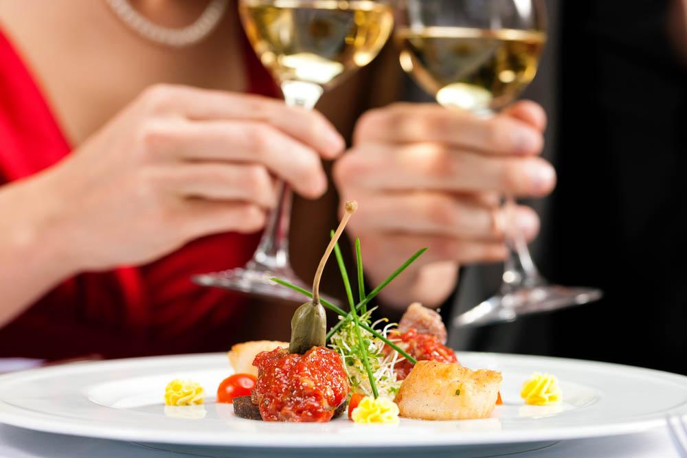 Dinner in a gourmet restaurant. Photo: Shutterstock