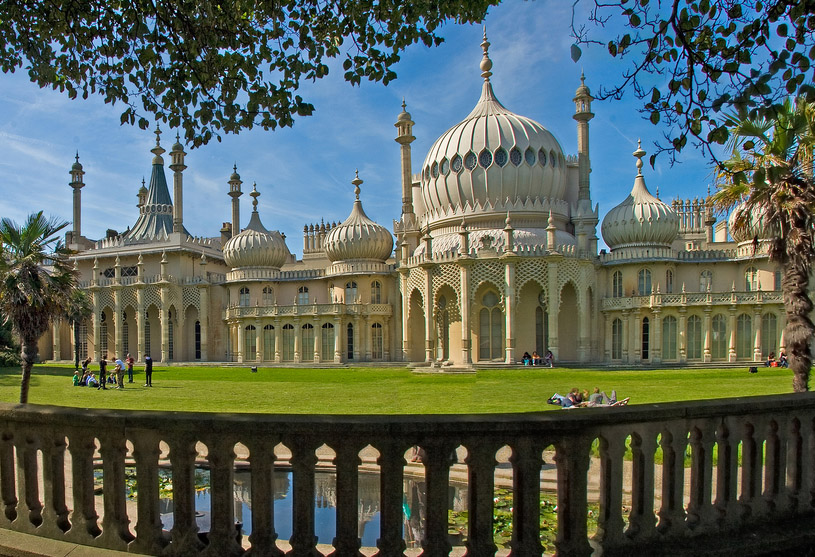 The Royal Pavilion, built for King George IV in the early 19C at Brighton, Sussex, England. Photo: Shutterstock
