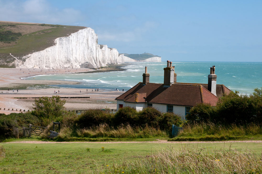 Coast Guard Cottages & Seven Sisters. Photo: Shutterstock