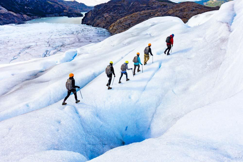 Patagonia's ice trekkers. Photo: Shutterstock