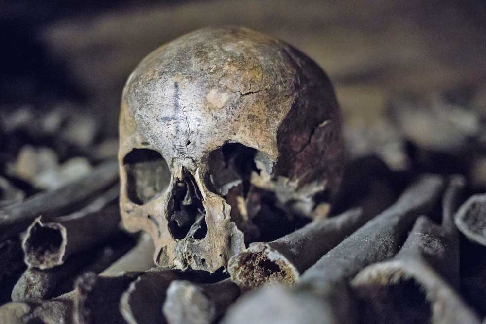 The Catacombs of Paris. Photo: Shutterstock