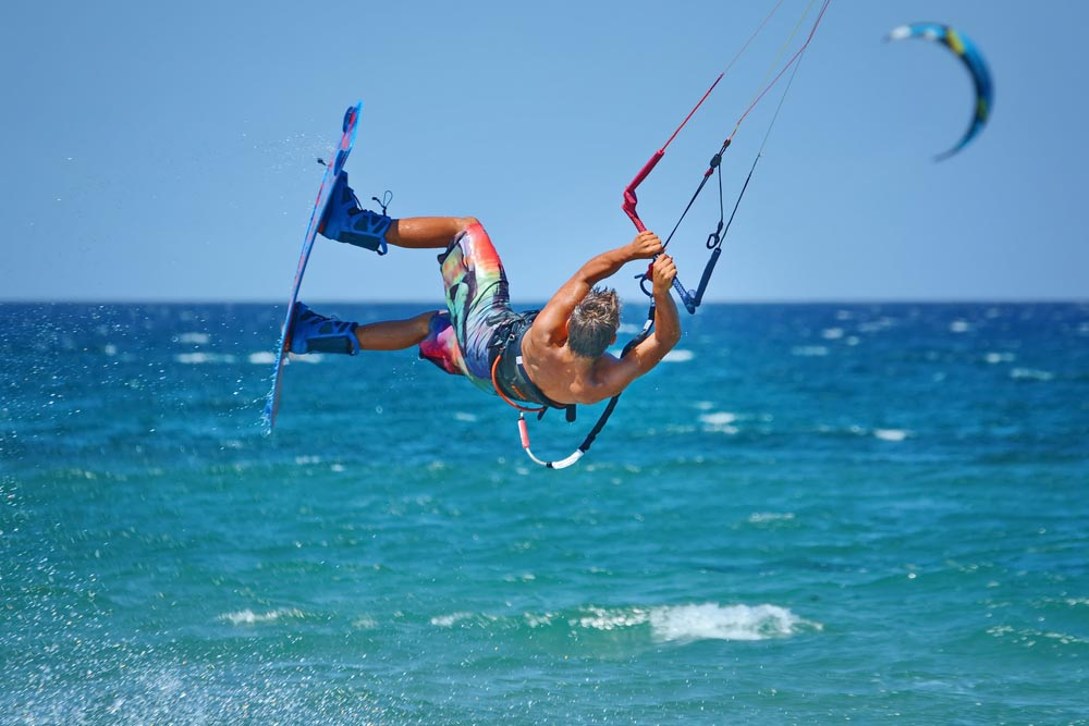 Kitesurfing in Oman.