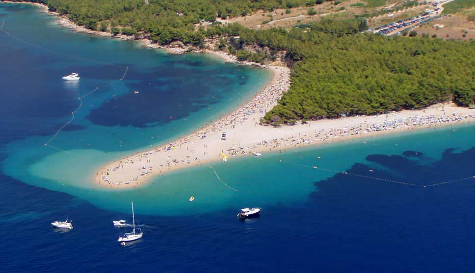 Golden Cape - Zlatni Rat at island Brac, Croatia. Photo: Shutterstock