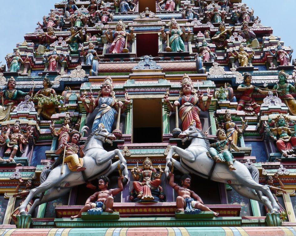 Sri Maha Mariamman hindu temple in Kuala Lumpur, Malaysia
