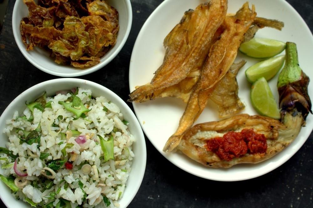 Malay nasi ulam, a popular dish in Malaysia. Photo: Shutterstock